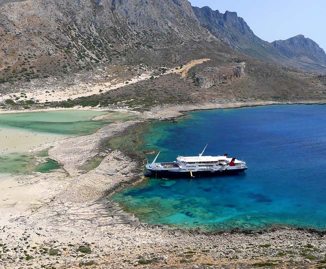 One day Cruise Tour to Gramvousa & Exotic Blue Lagoon of Balos in Crete