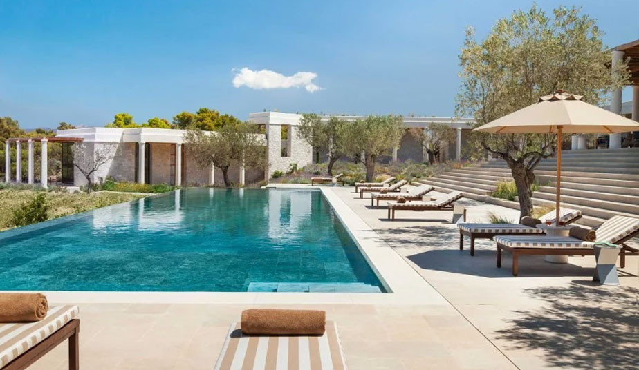 10 day luxury vacation package Greece, Athens, Amanzoe resort, Santorini