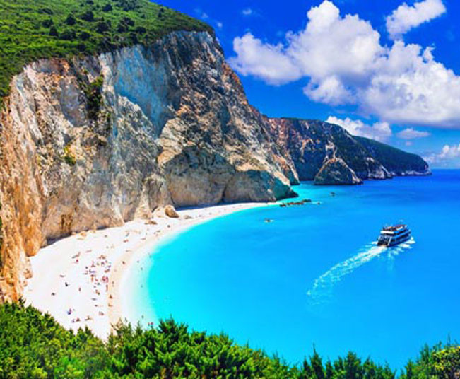 12 Day Holidays at Ioanian Islands, Kefalonia, Lefkada & Tour in Santorini
