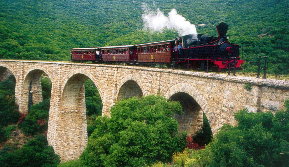 6 Day Little trains tour of Greece, Pelion the mountain of Centaurs, Meteora, Delphi, Kalavryta, Olympia