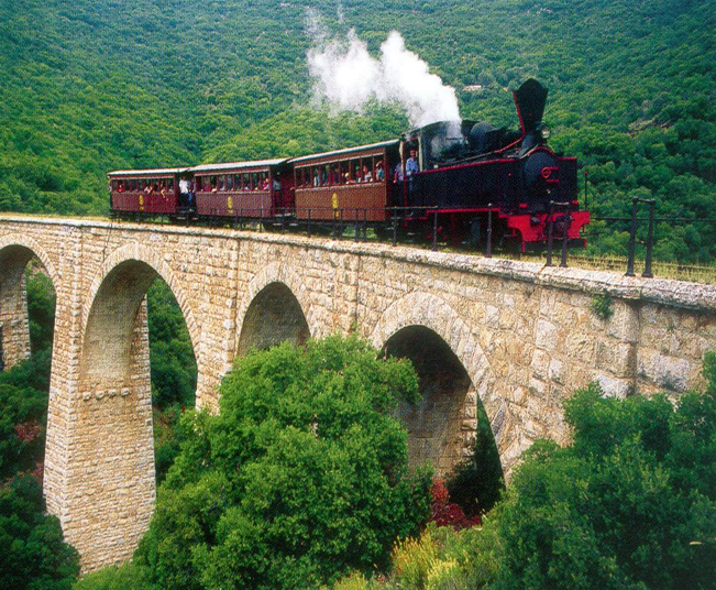 6 Day Little Train Tour Package, pass by Natural Paradise of Classical Greece