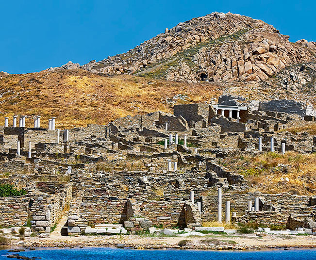 Guided Cruise Tour in Delos,  the Archeological Gem of the Aegean