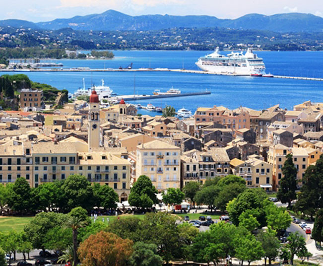 Half-Day Tour to old town Corfu, Old Fortress, Mouse Island, Achilleion Palace