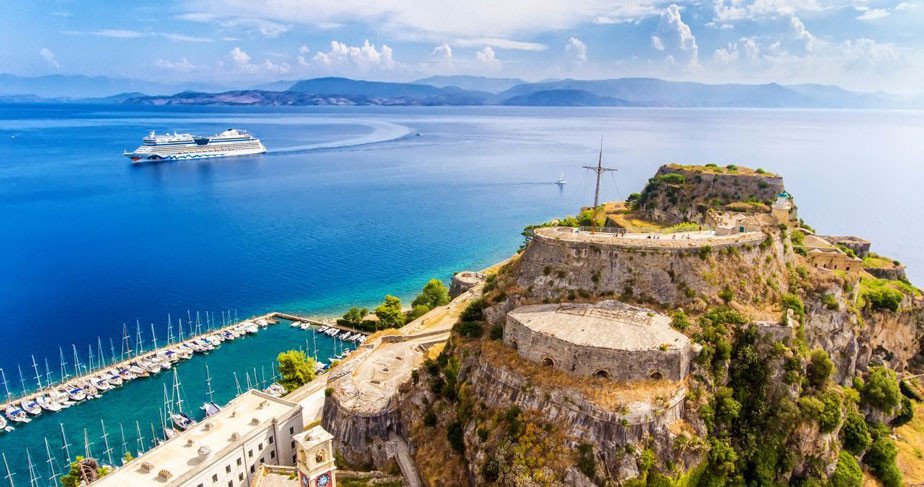 Private Shore Excursion Corfu, visit Achilleion Palace, Mouse Island & Walking Tour to the Old Corfu Town